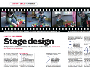 Stage Design… how does block play allows a child to mix creativity with mathematical problem-solving