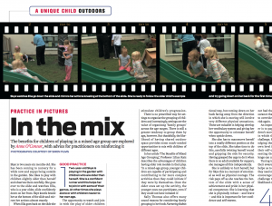 In the Mix…explore the benefits for children of playing in a mixed age group