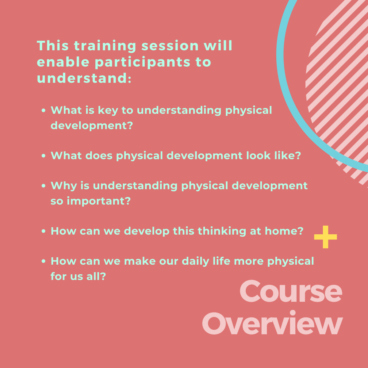 Course overview>